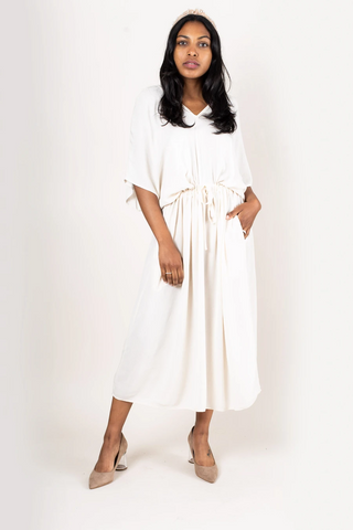 Long Kaftan - White