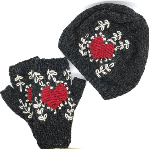 Warm Heart Knit Set Gift Package