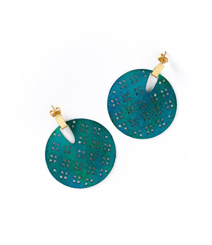 Teal Blossom Earrings