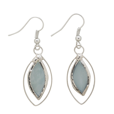 Blue Capiz Earrings