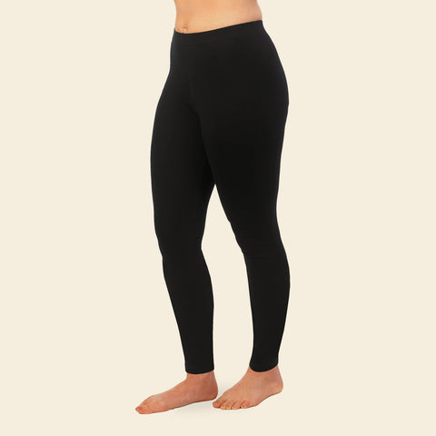 Organic Cotton Black Ankle Leggings