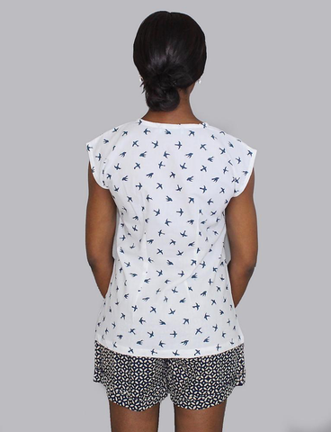 Bird Button Top