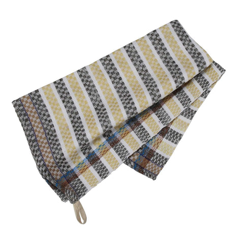 Checkered Stripe Tea Towel