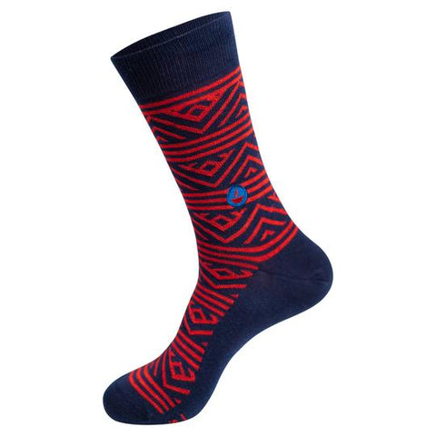 Socks That Feed Children (Navy/Red)