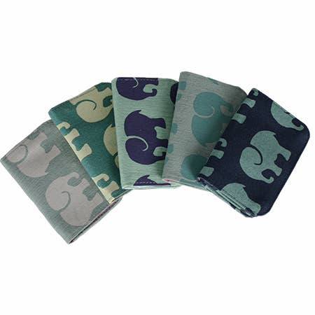 Cotton Cardholder - Elephant Print