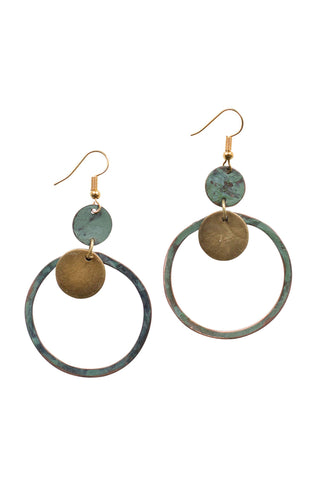 Encircled Patina Earrings
