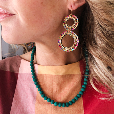 Kantha Chromatic Necklace Teal