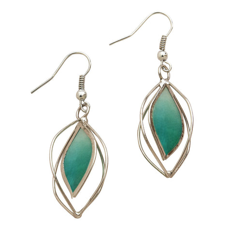 Sage Capiz Earrings