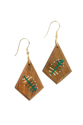 Threaded Fern Earrings