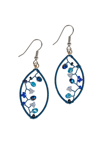 Beaded Vine Earrings
