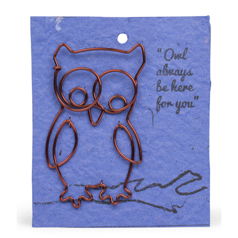 Wire Owl Bookmark