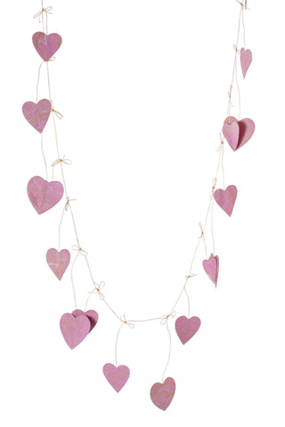 Paper Hanging Hearts Garland