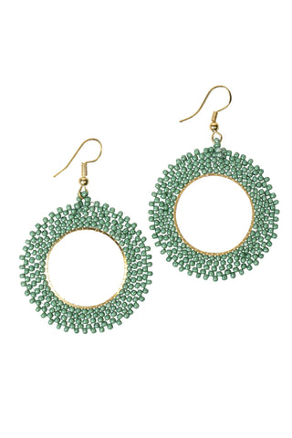 Green Starburst Earrings