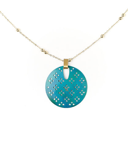 Teal Blossom Necklace