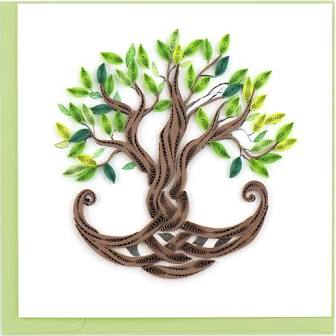 Quilled Tree of Life Card