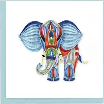 Quilled Abstract Elephant Card