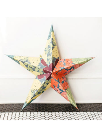 "22"" Tropical Recycled Star Lantern"
