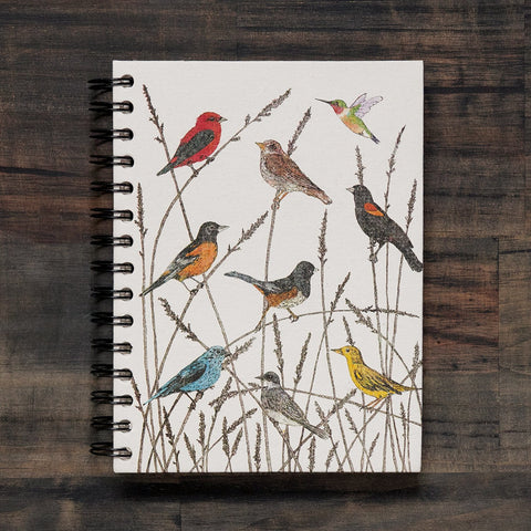 Large Notebook Wild Birds Watercolor Sketch