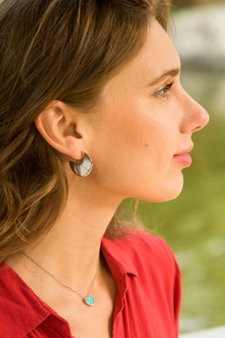 Lucy Silver Circular Earrings