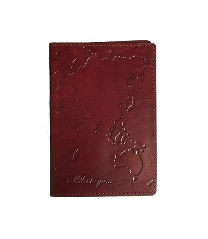 World Passport Cover Brown