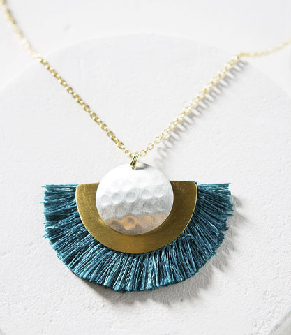 Teal Vitana Cosmos Necklace