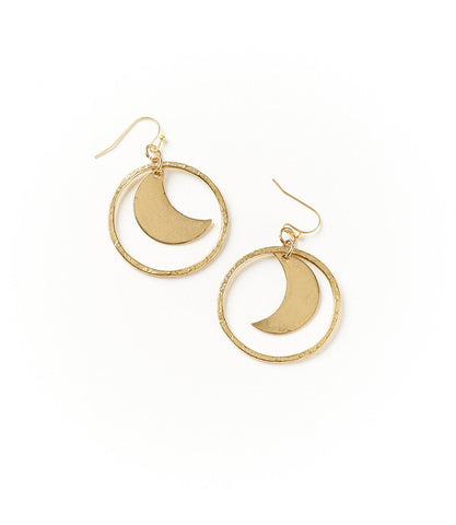 Diya Earrings Crescent