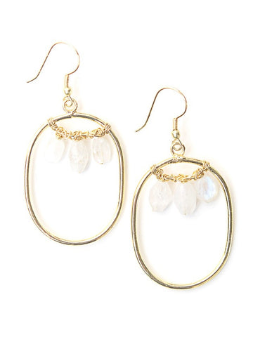 Blazen Moonstone Earrings