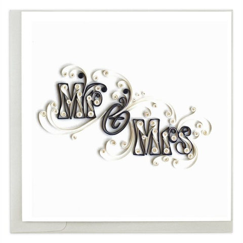 Quilled Mr & Mrs Card