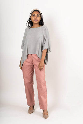 Nearady Top - Grey Crepe