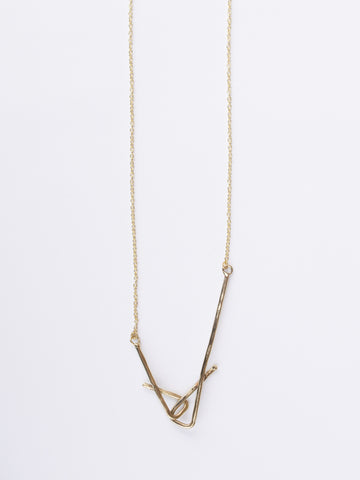 Stretched Shapes Necklace Gold
