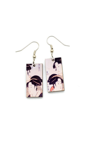 Art Dangle Earrings: Three Beauties