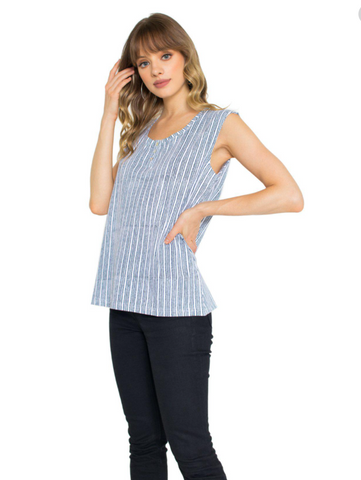 Nova Striped Organic Jersey Top