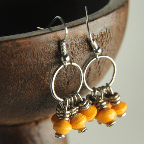 Nyota Mustard Earrings