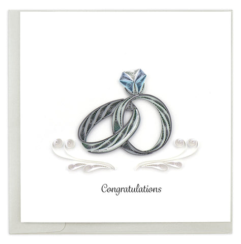 Quilled Wedding Rings Card