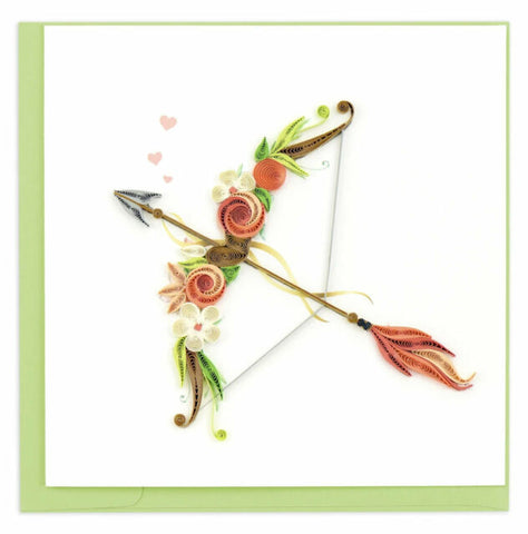 Quilled Cupid's Arrow Card