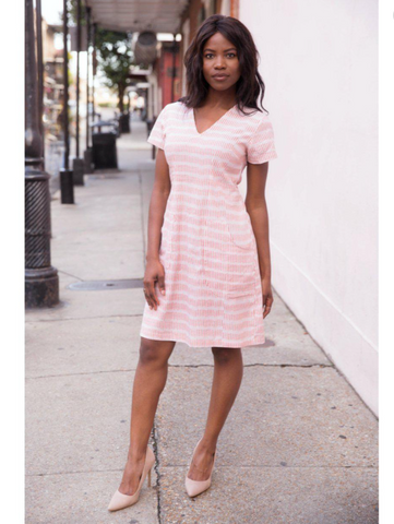 Salmon Stripes Dress