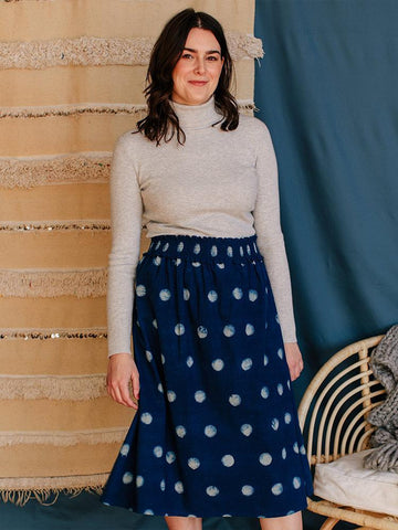 Shimla Smocked Full Moon Skirt