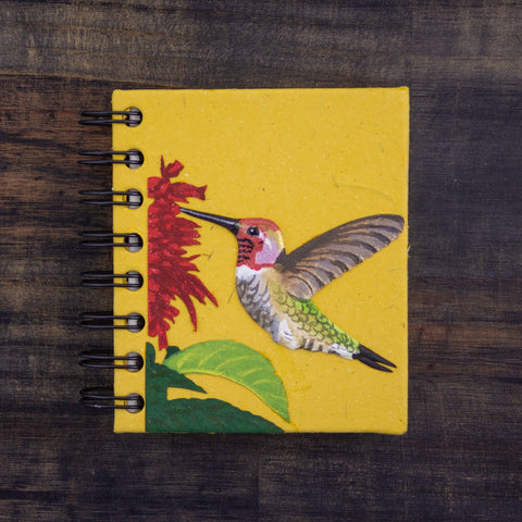 Small Notebook Hummingbird Yellow