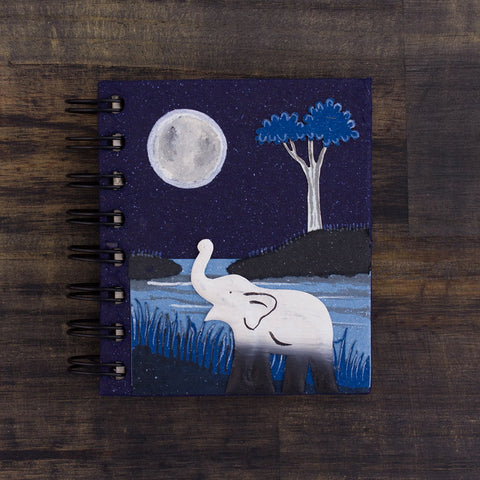 Small Notebook Elephant Midnight Blue