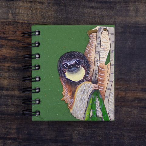 Small Notebook Sloth Green