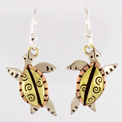 Swirl Turtle Earrings