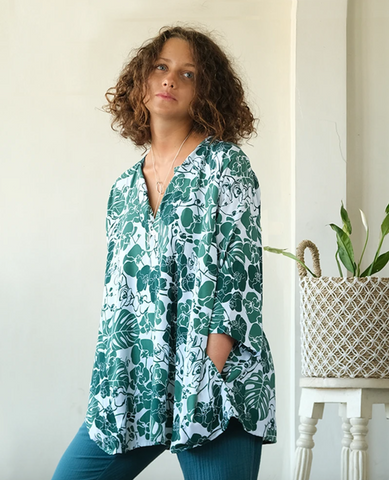 Orchid Emerald Tunic Top