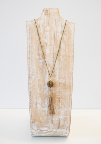The Wanderer Tassel Necklace - Gold