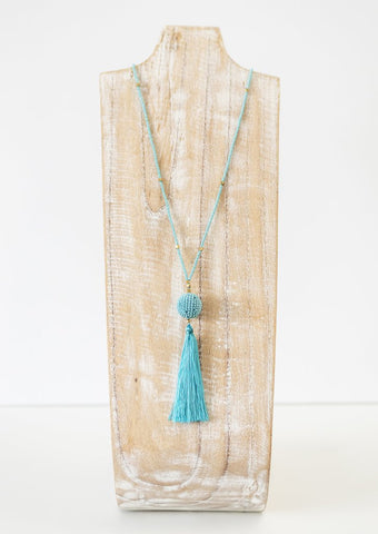 The Wanderer Tassel Necklace - Turquoise
