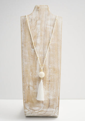 The Wanderer Tassel Necklace - White