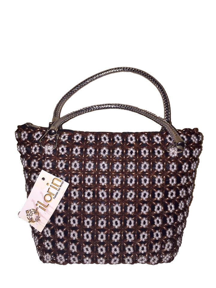 Pearl and Brown Tote