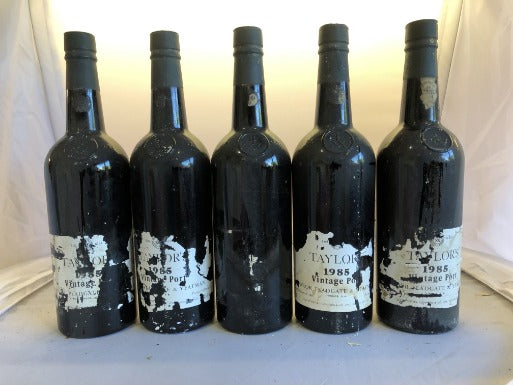 Taylor's 1985 Vintage Port - damaged labels