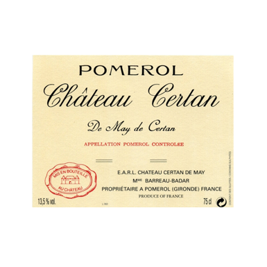 Chateau Certan de May 1982