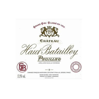 Chateau Haut Batailley 1996 - MWH Wines