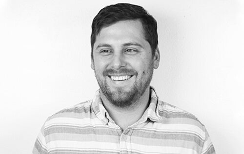 Black-and-white portrait of EPIC marketing logistics support associate Cory Robertson